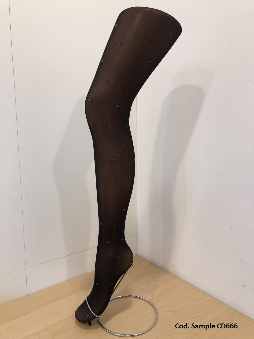 Pantyhose with Dots Lurex Pattern!